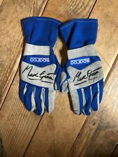 Marc Gene' - Autographed Racing Gloves - Sparco
