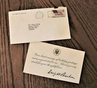 1959 Card from White House,  Dwight Eisenhower - US Presidential Collectibles