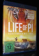 BLU-RAY LIFE OF PI - SCHIFFBRUCH MIT TIGER - von Oscar Gewinner ANG LEE * NEU *