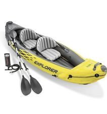 New listing Intex Explorer K2 Inflatable 2 Person Kayak Canoe with Pump and Aluminum Oars!!!