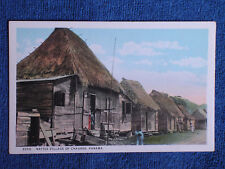 Chagres Panama/Row of Thatched Roof Huts-Houses/Maduro Printed Color Photo PC