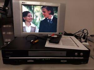 Hitachi FX695A VCR Video Cassette Recorder 4 Heads Tested -Remote-Manual-AV Cord
