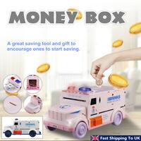 Car Model Kids Money Box Piggy Bank Coin Penny Storage Saving Toy Gift