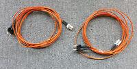 2 x LC To ST 62.5/125 OM1 Duplex Multimode Fibre Optic 3M Cable Orange
