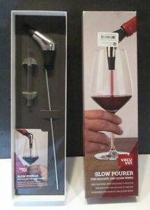 Vacu Vin Slow Pourer For Delicate and Older Wines Stainless NIB