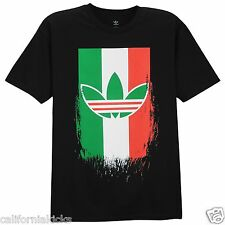 ADIDAS Originals Mexico Logo T-Shirt sz S Small Black Green White Red Soccer NEW