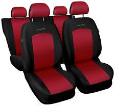 Cubiertas de asiento de ajuste Ford Mondeo MK4 IV MK5 V Set Completo Negro/Rojo Sport Line