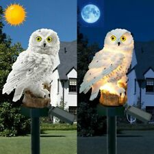 Garden Solar Light Owl Ornament Outdoor Lawn Decor Waterproof Animal Bird Lamp
