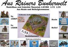 F.Diorama Nr.1500B Erdbunker mit Panzerturm 1:35 Resin