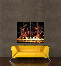 Poster impression photo composition jazz musique piano thème trompette flamme seb838