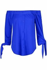 Magliette da donna blu in poliestere taglia S