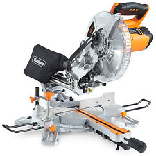 "VonHaus 2000W Sliding Compound Mitre Saw 10"" 255mm +45°/-45° Bevel Cut Laser"