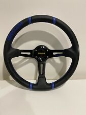 MOMO 350mm 4 inch dish BLUE deep dish steering wheel racing sports PVC