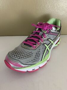 ASICS GT-1000 Women's Size 8.5 Gray / Green / Pink Athletic Shoes