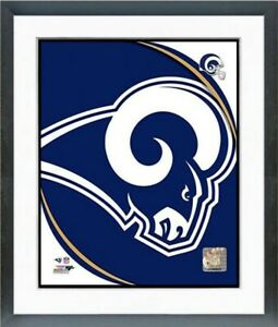 "Los Angeles Rams NFL Team Logo Composite Photo (Size: 12.5"" x 15.5"") Framed"