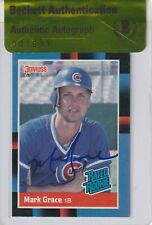 MARK GRACE Signed 1988 DONRUSS ROOKIE Card #40 w/ Beckett Authenticity Seal