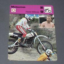 FICHE MOTO HEIKKI MIKKOLA MOTOCROSS 250 500 CC PILOTE COURSES SUOMI FINLAND