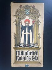 ancien calendrier Münchener kalender 1910 BON ETAT
