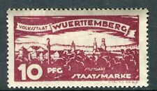 WURTTEMBERG;  1920 early Ulm Official issue Mint hinged 10pf. SP-245327