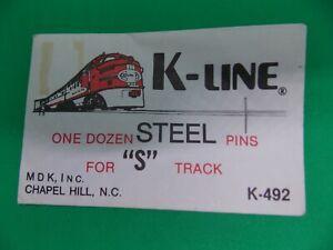 American Flyer, K-LINE ISTEEL PINS FOR 'S' GAUGE TRACK K-492 - ORIGINAL