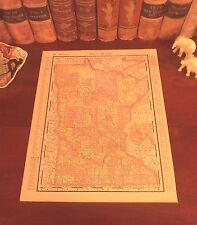 Original 1898 Antique Map MINNESOTA Rochester Duluth Eagan Plymouth Lake City MN