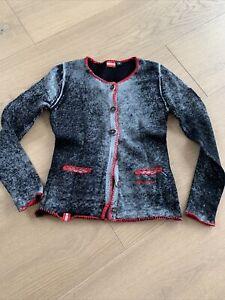 Almgwand Strickjacke Damen, Farbe: grau, Grösse: 38, Top