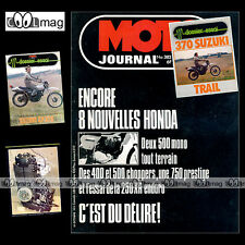 MOTO JOURNAL N°382 HONDA XR 250,CB 750 K, PARIS-DAKAR  ★★ SUZUKI SP 370 ★★  1978