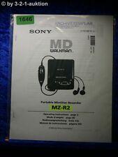 Sony Bedienungsanleitung MT R2 Portable Mini Disc Recorder (#1646)