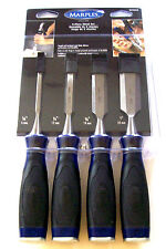 "4pc MARPLES CHISEL SET BY IRWIN MS500BS4N WOOD WOODWORKING 1/4"" 1/2"" 3/4"" 1"""