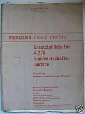 Perkins 4.270 / 4270 Motor ET-Liste z.B. Claas Mähdr.