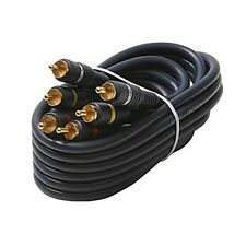 Eagle 25' FT 3 RCA Composite Cable Male To Male Gold Python Home Theater Stereo