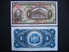 BOLIVIA  1 Boliviano 1928  (P118a)  UNC