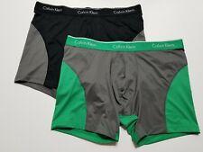 Calvin Klein Stretch Microfiber Boxer Brief -Green/Gray Black/Gray- XL - NP19120