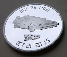 Back to the Future Silver Coin Delorean Time Travel Machine 80s Retro Amazing US