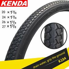 KENDA New Mountain Bike Road Bike Tire 20/24/26/27 inch*1 3/8 Tires Black Tire