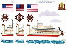 Mrs Grossman's RIVERBOAT Boat Scrapbook Stickers 3 Sheets Paddle Steamer