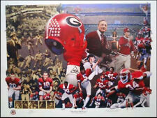 "UGA UNIVERSITY OF GEORGIA BULLDOGS ""First 100 Years"" Large Signed Print"