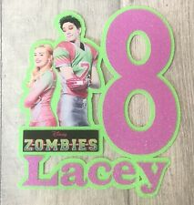 Personalised Disney Zombies Inspired Cake Topper/ Any Name and Age.