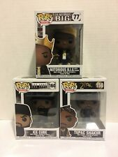 Funko Pop! Lot Of 3! Tupac #158, Ice Cube #160, & Notorious B.I.G. #77 In Hand!