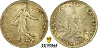 1919 France 2 Francs PCGS MS64 Silver Unc La Semeuse Uncirculated French Coin