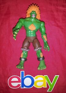 """RARE Street Fighter OFFICIAL CAPCOM 5"""" INCH BLANKA TOY ACTION FIGURE NEW !"""