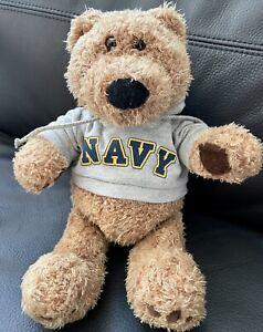 "GUND 12"" Teddy Bear ""Lou"" Plush Stuffed Animal NAVY Hoodie 43692 USN or USNA"