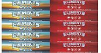 Elements Ultra Kingsize Slim Rolling Papers + Elements Red King Size Papers Sets