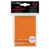 50 Ultra Pro ORANGE Deck Protector Standard Card SLEEVES MTG Magic Pokemon 82673