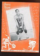 1951 NBA Basketball Program Baltimore Bullets at New York Knickerbockers EX