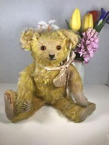Antique German Teddy Bear Jopi Helvetic Pappe Musical Bellows
