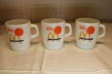 Vintage Lot of 3 McDonalds Good Morning Anchor Hocking Fire King Coffee Mugs Cup