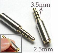 Mini 3.5mm Male to 2.5mm Female Stereo Audio Headphone MIC Adapter Converter CIT