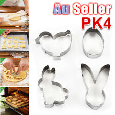 4Pc -- Baking Cutter Metal Cookie 3D Cake Decor Easter Spring Mold Biscuit Mould