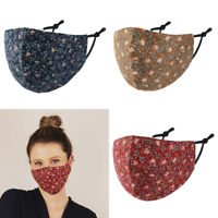 Stoffmaske Gesichtsmaske Maske Mund-Nasen-Maske Herbstblumen Blumen Baumwolle